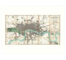 Vintage Map of London England (1806) Art Print
