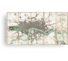 Vintage Map of London England (1806) Canvas Print
