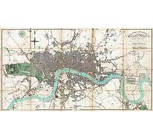 Vintage Map of London England (1806) Photographic Print