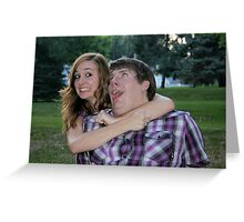 Silly, Silly Engaged Couple! Greeting Card