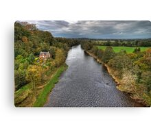 The River Eden From Corby Bridge Canvas Print