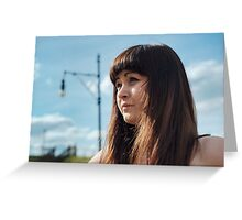 Portrait of beauty girl. Greeting Card
