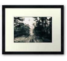 Rushing An Abstract Expressionism Framed Print