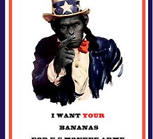 Uncle monkey wants your bananas Street Art by dashiner