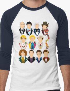 The Eleven Doctors  Men's Baseball ¾ T-Shirt