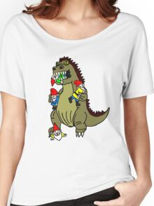 Godzilla Monster and Gnomes Women's Relaxed Fit T-Shirt
