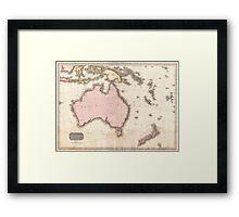 Vintage Map of Australia (1818) Framed Print