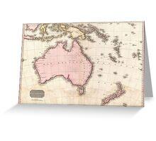 Vintage Map of Australia (1818) Greeting Card