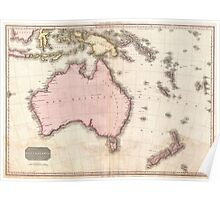Vintage Map of Australia (1818) Poster