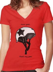 That's my Jam! Women's Fitted V-Neck T-Shirt