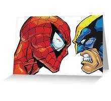 spiderman vs wolverine Greeting Card