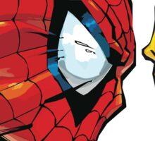 spiderman vs wolverine Sticker