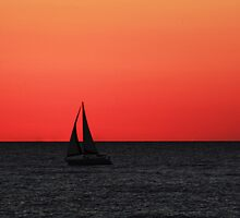 sailing into the sunset by kathy s gillentine