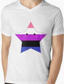 Genderfluid Star Mens V-Neck T-Shirt
