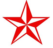 Nautical Star Sticker (red version) by robotface