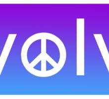 Evolve: Coexist in Peace (purple fade version) Sticker