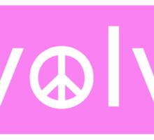 Evolve: Coexist in Peace (pink version) Sticker
