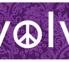Evolve: Coexist in Peace (violet floral version) Sticker