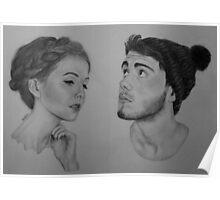 Zoe Sugg , Alfie Deyes / Zalfie Drawing Poster