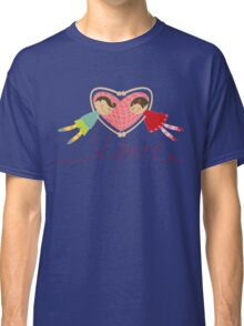 Valentine Love Boy Hearts Girl Classic T-Shirt