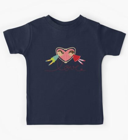 Valentine Love Boy Hearts Girl Kids Tee