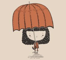 Girl with big red umbrella by tashtee