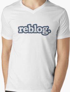 Reblog Mens V-Neck T-Shirt