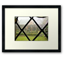 Looking Through a Cloister Window to the Centre Garden Framed Print