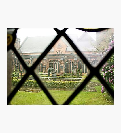 Looking Through a Cloister Window to the Centre Garden Photographic Print