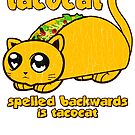 Funny - Tacocat Spelled Backwards (vintage look) by robotface