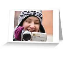 Smile you're on camera Greeting Card