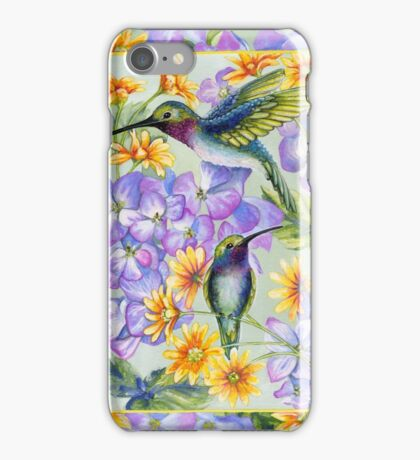 Hummingbird Duo iPhone Case/Skin