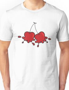 Splat! Cute Cheeky Cherries Unisex T-Shirt