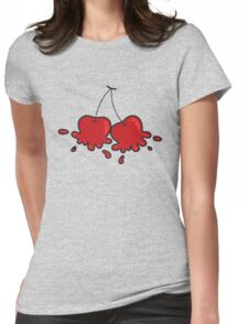 Splat! Cute Cheeky Cherries Womens Fitted T-Shirt