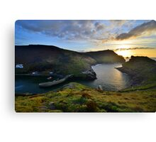 Cornwall: October Sunset at Boscastle Canvas Print