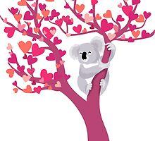 Love Koala in Tree by PepomintNarwhal