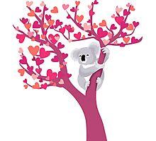 Love Koala in Tree Photographic Print