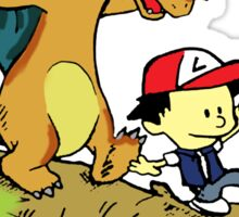 Calvin and Hobbes Pokemon Sticker