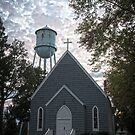"""Holy Water"" - church and water tower by ArtThatSmiles"