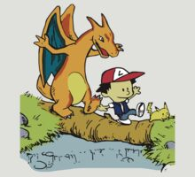 Calvin and Hobbes Pokemon by RedbubblePro
