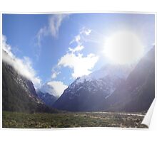 Milford Sound - Glacier Valley Poster