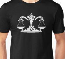 Zodiac Sign Libra White Unisex T-Shirt
