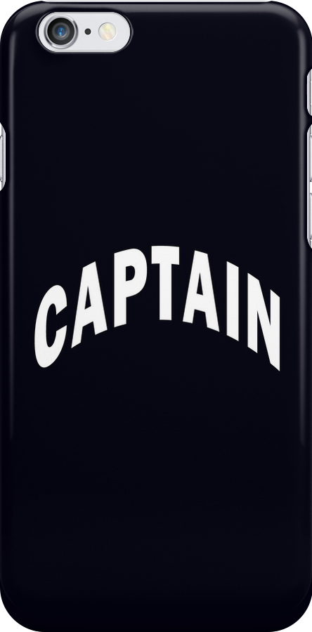 CAPTAIN - iphone case by Marcia Rubin