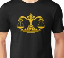 Zodiac Sign Libra Gold Unisex T-Shirt