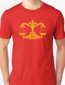 Zodiac Sign Libra Gold T-Shirt