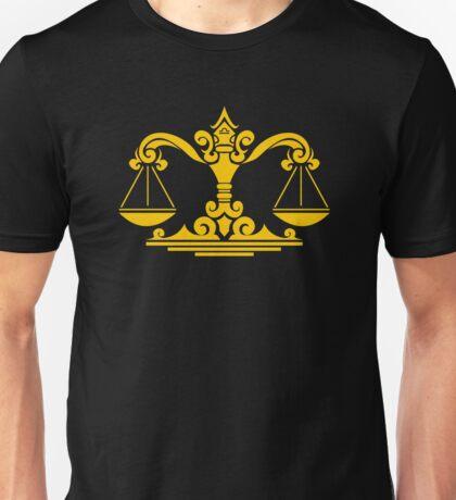 Zodiac Sign Libra Gold Unisex T-Shirt