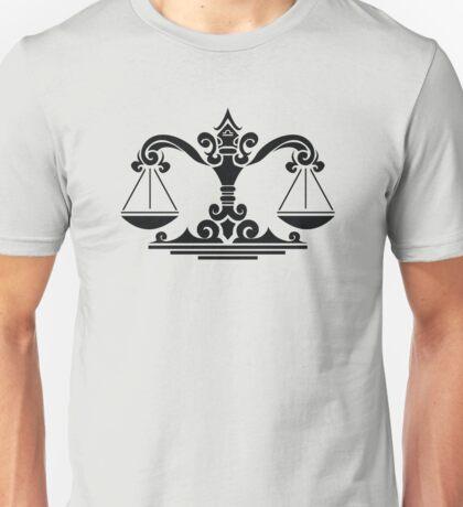 Zodiac Sign Libra Black Unisex T-Shirt
