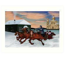 Troika - Winter Scene Art Print