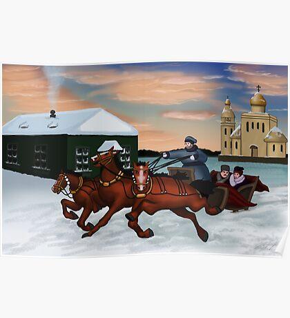 Troika - Winter Scene Poster