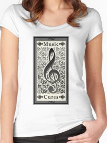 Music Cures Women's Fitted Scoop T-Shirt